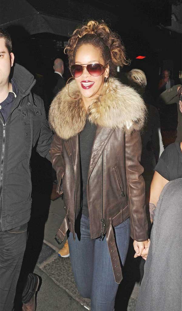 Rihanna leather jacket
