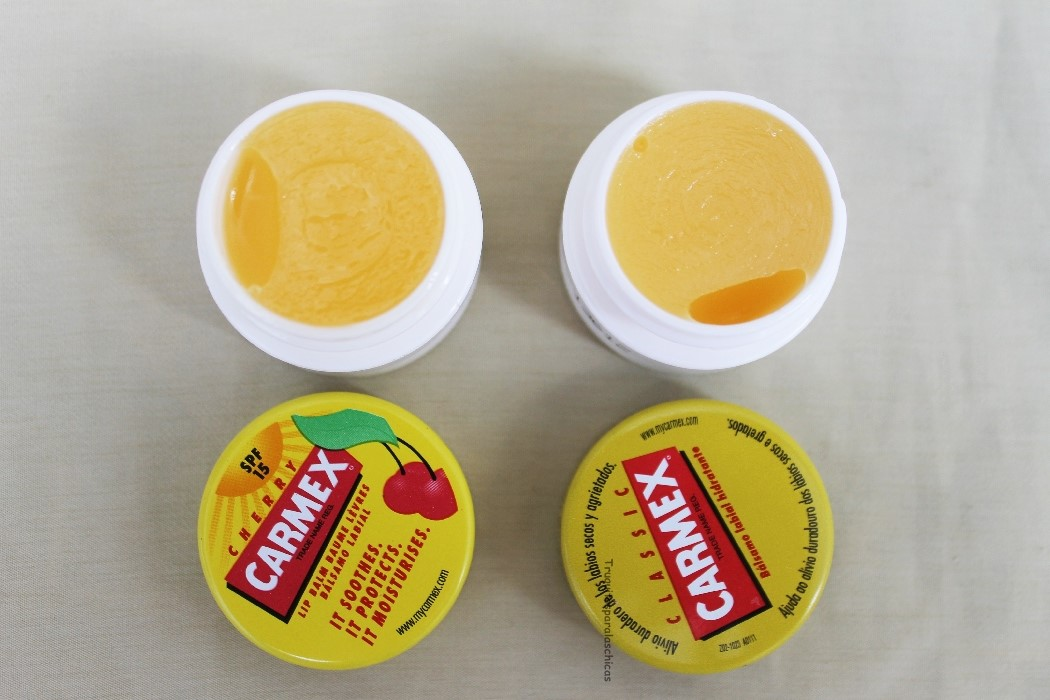 carmex cereza y carmex clasico