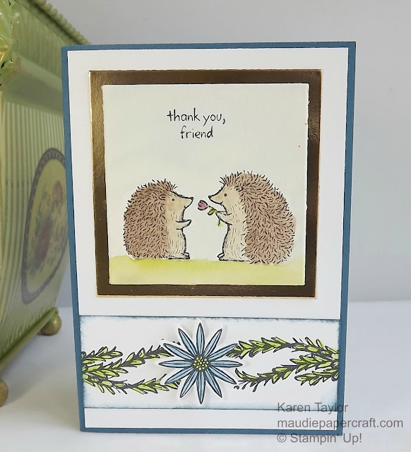 Stampin' Up! Love You Lots hostess set card