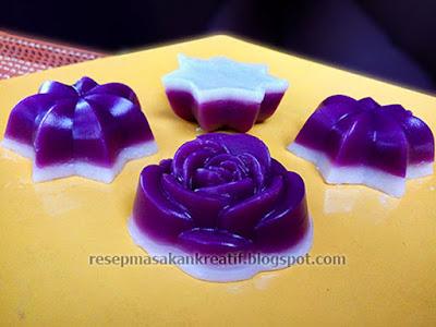 Resep membuat kue talam mawar dan bintang