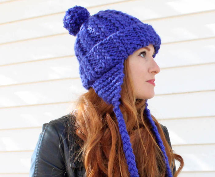 Knitting Pattern Ladies Hat With Ear Flaps : Ear Flap Hat [knitting pattern] - Gina Michele