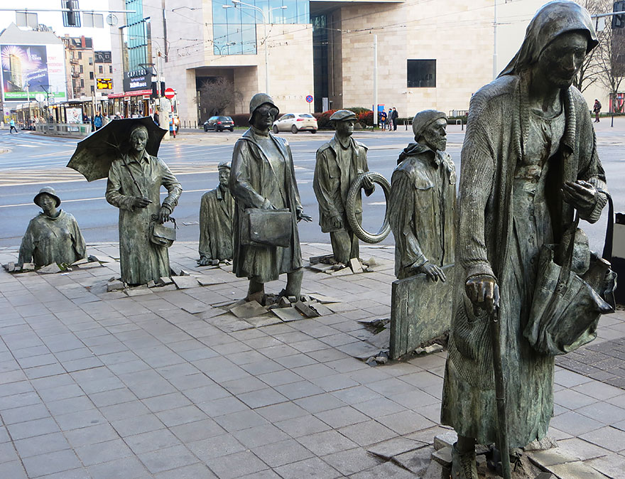 The Monument of an anonymous Passerby,Wroclaw,Poland