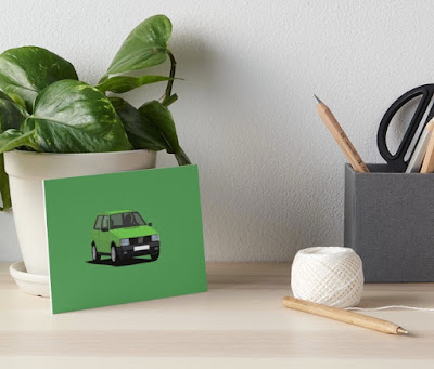 Fiat Uno home decor green art