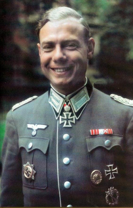 Nazi Jerman Foto Berwarna Jenderal Heer