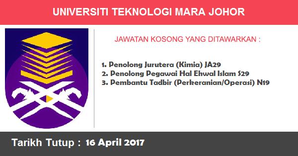 Jawatan Kosong di Universiti Teknologi Mara (UiTM) Johor