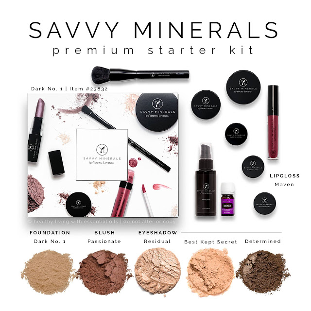 Savvy Mineral Makeup Premium Starter Kit: Dark 1