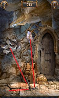 Применяем инструмент на скале