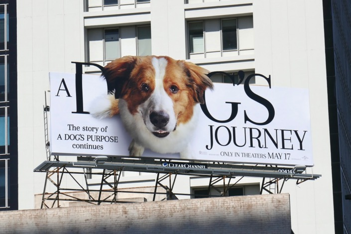 A Dogs Journey extension billboard