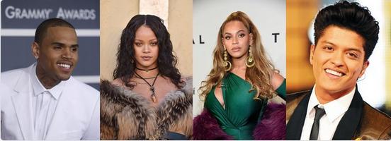 Chris-Brown-Beyonce-Bruno-Mars-Rihanna