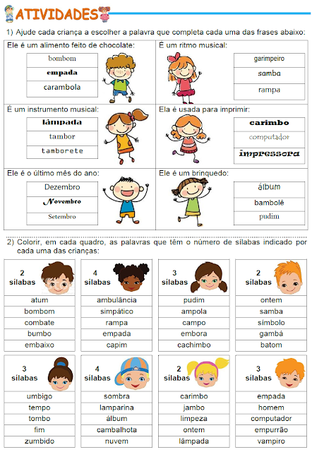 Ortografia - Treinando palavras que têm M antes de P e de B