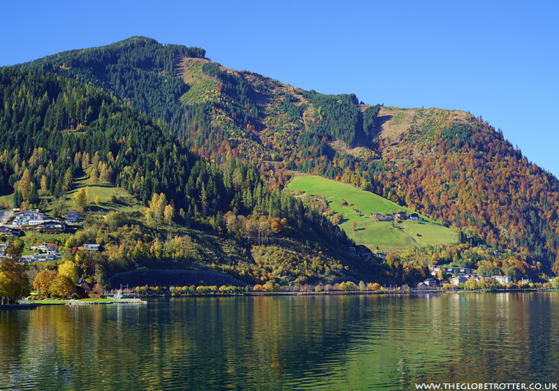 Boating on Lake Zell in Zell am See, Austria