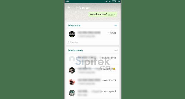 Cara Mengetahui Orang yang Sudah Membaca Pesan Anda di Grup WhatsApp