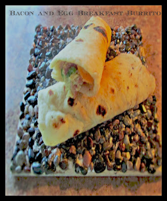 two breakfast burritos