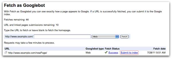 Google merayapi situs web Anda