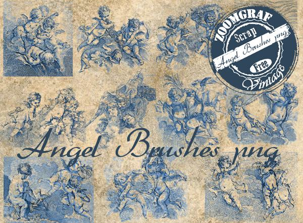 angel brushes vintage,png,clipart,recursos grafícos,stamp, scrap,free