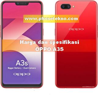 Harga dan spesifikasi Oppo A3S