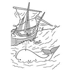Jonah and Whale Coloring Sheet For Print