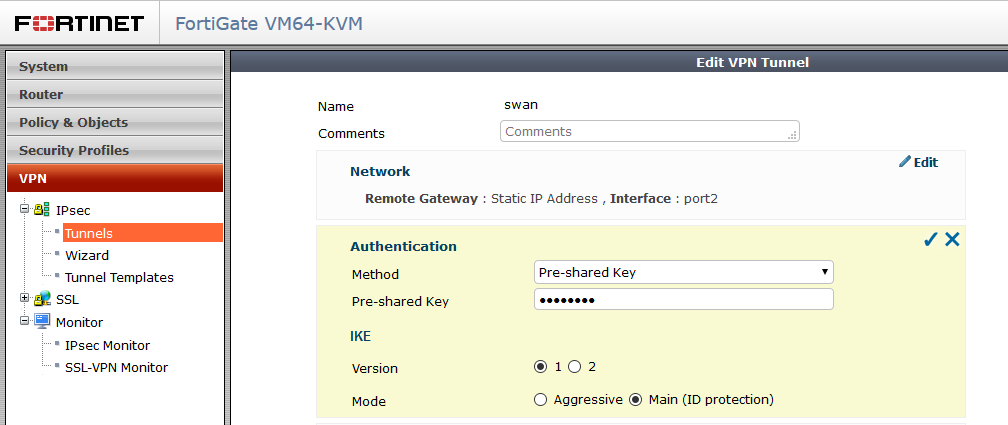 Route Based Vpn Between Fortigate And Strongswan Andras The Techie