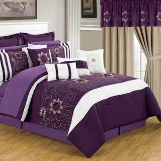 Purple Bedroom Ideas: Amanda Bag in Bed set
