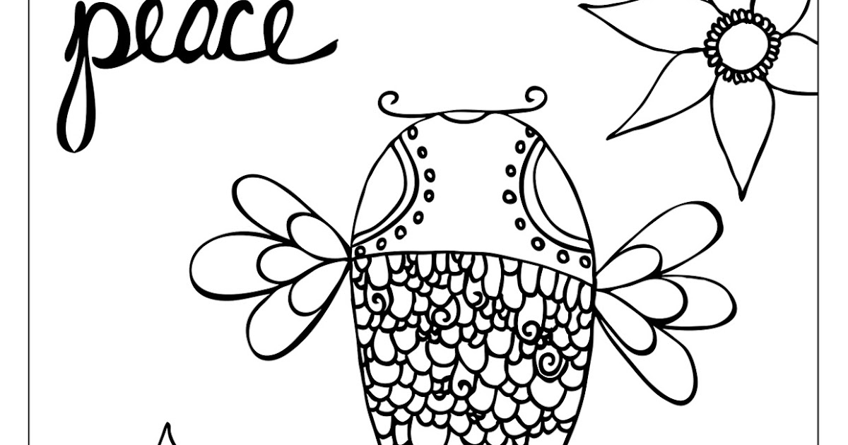 My Cup Overflows: Fish Coloring Page
