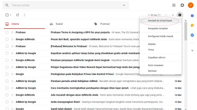 Cara Mengaktifkan Gmail Versi Terbaru - RIswan.net