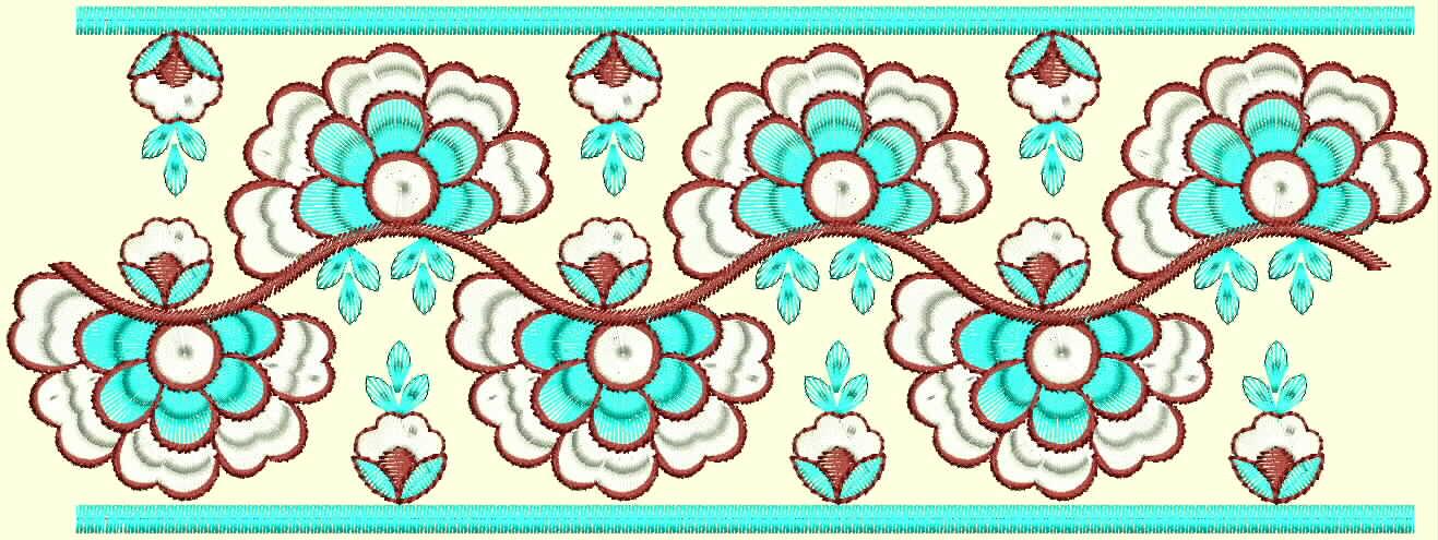 Embdesigntube Kolkata Bazzaar Saree Border Lace Brocade