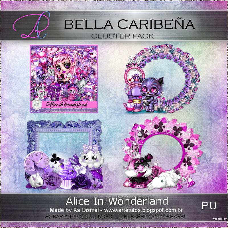 Art e Tutos: Alice In Wonderland 1 (PTU) - Com Cluster Frame by Ka ...