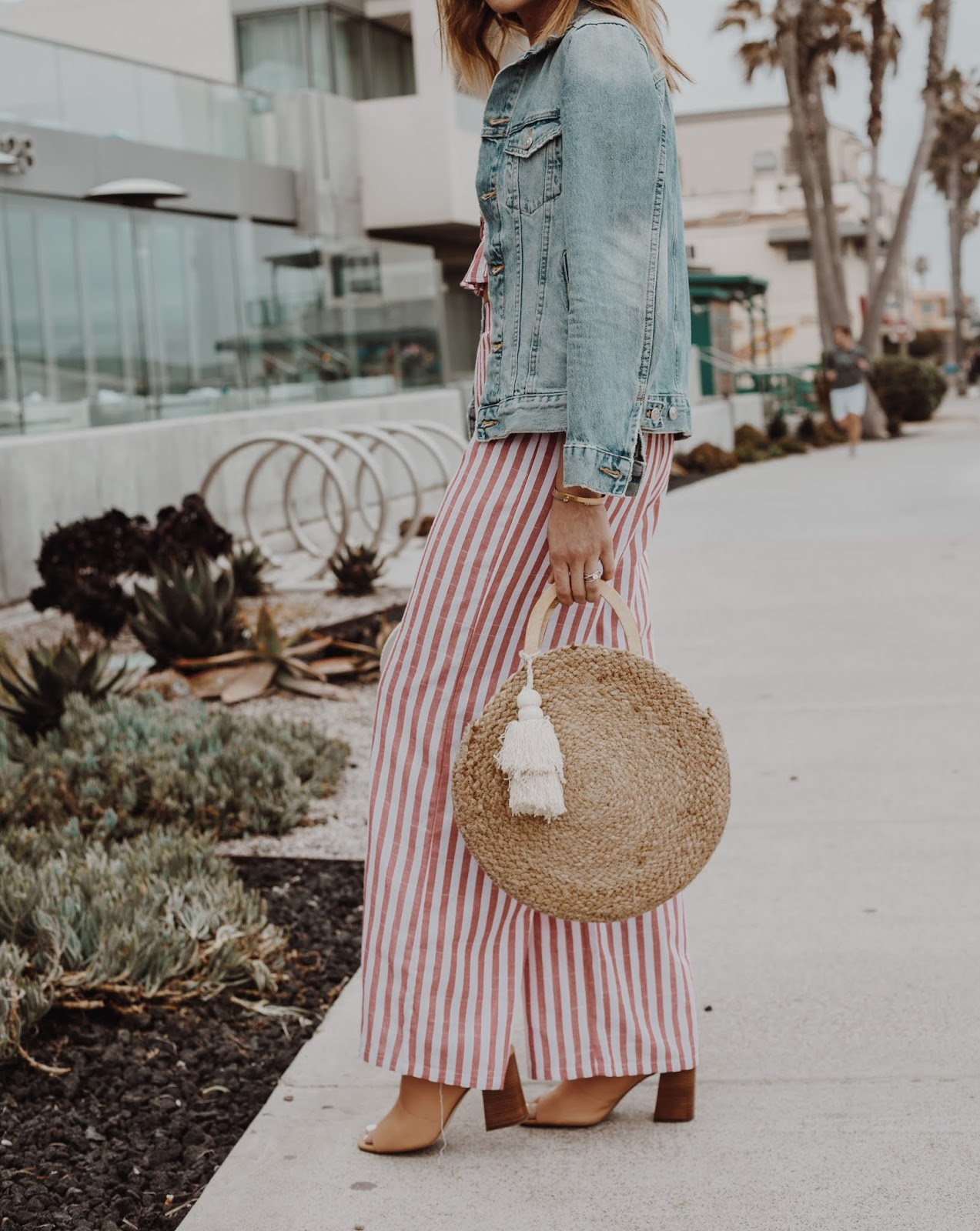 Striped Two Piece Set featured by popular Colorado fashion blogger, Leah Behr