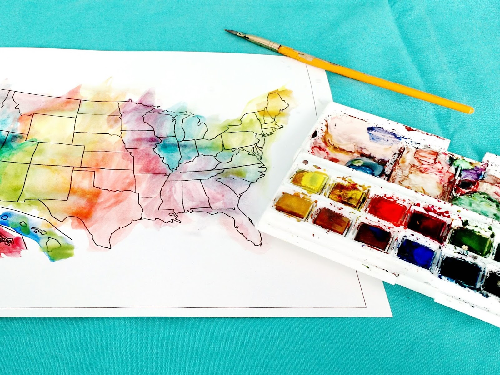 Hello Wild Things DIY Scratch Off Map - Scratch off us state maps with pencil