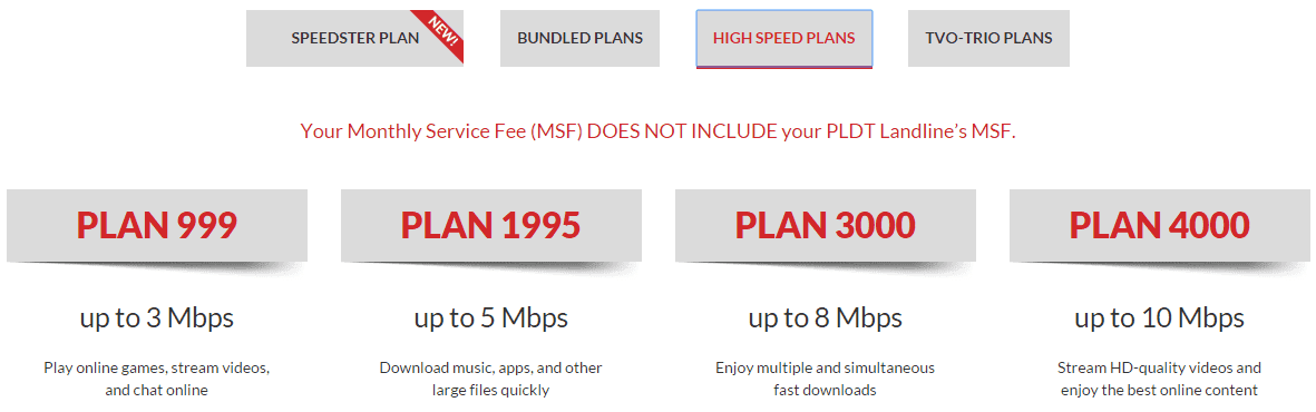 pldt mydsl business plan rate