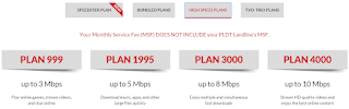 PLDT myDSL Plans and Price for up to 3,5,8 and 10 Mbps