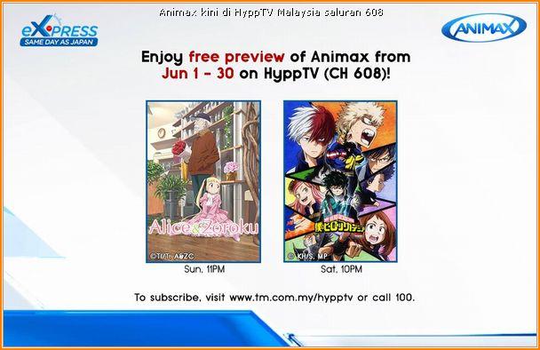 Animax kini di HyppTV