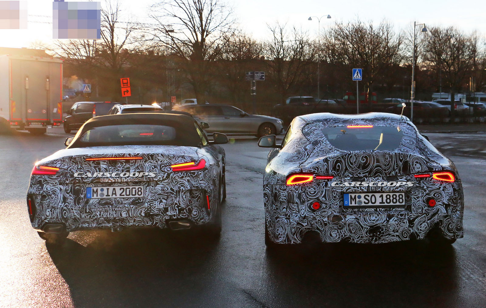 2019 Bmw Z4 Starts Dropping Camouflage As Debut Edges Closer Carscoops