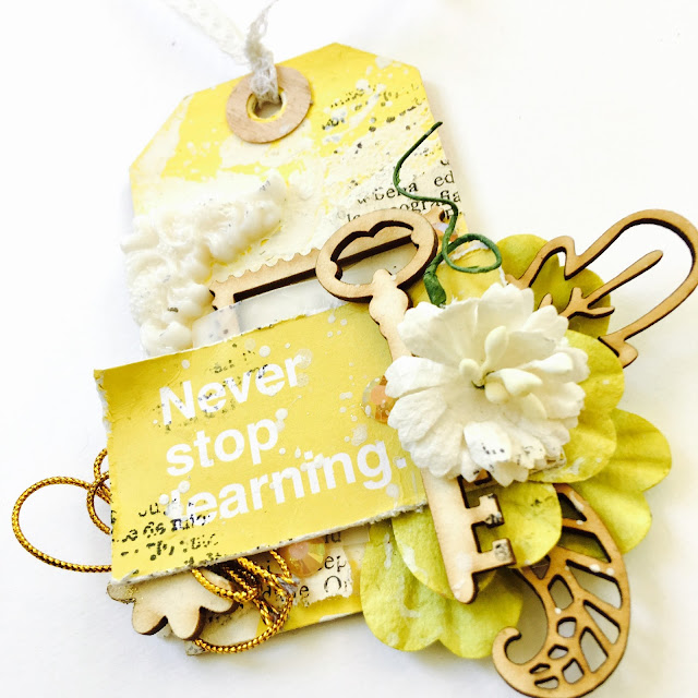 Romantic Mixed Media Tags by Angela Tombari for Yuppla Craft Design Team