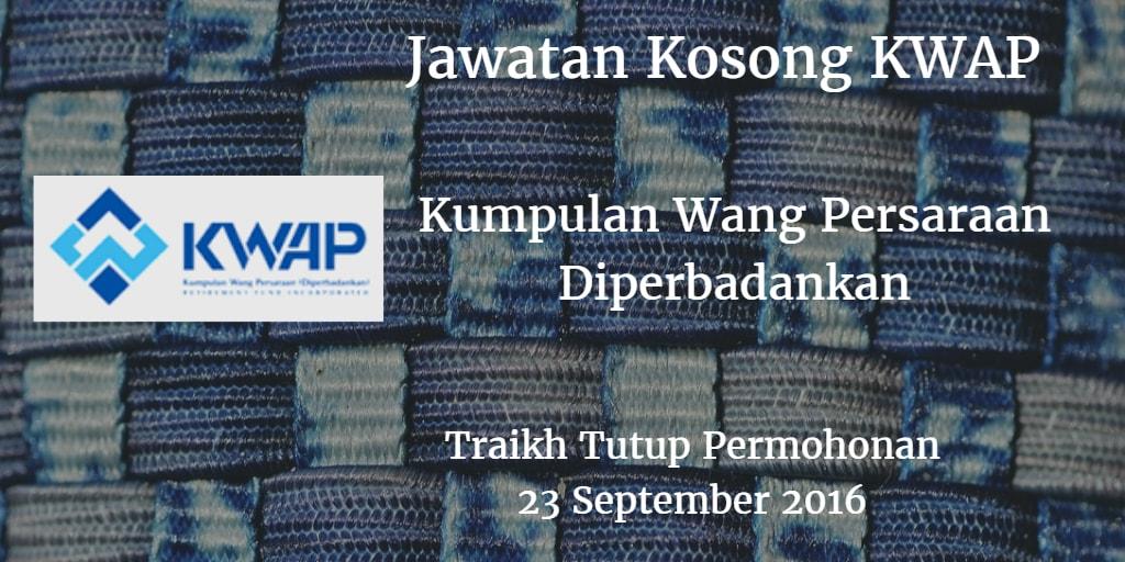 Jawatan Kosong KWAP 23 September 2016