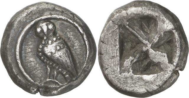 Wappenmünzen de Atenas