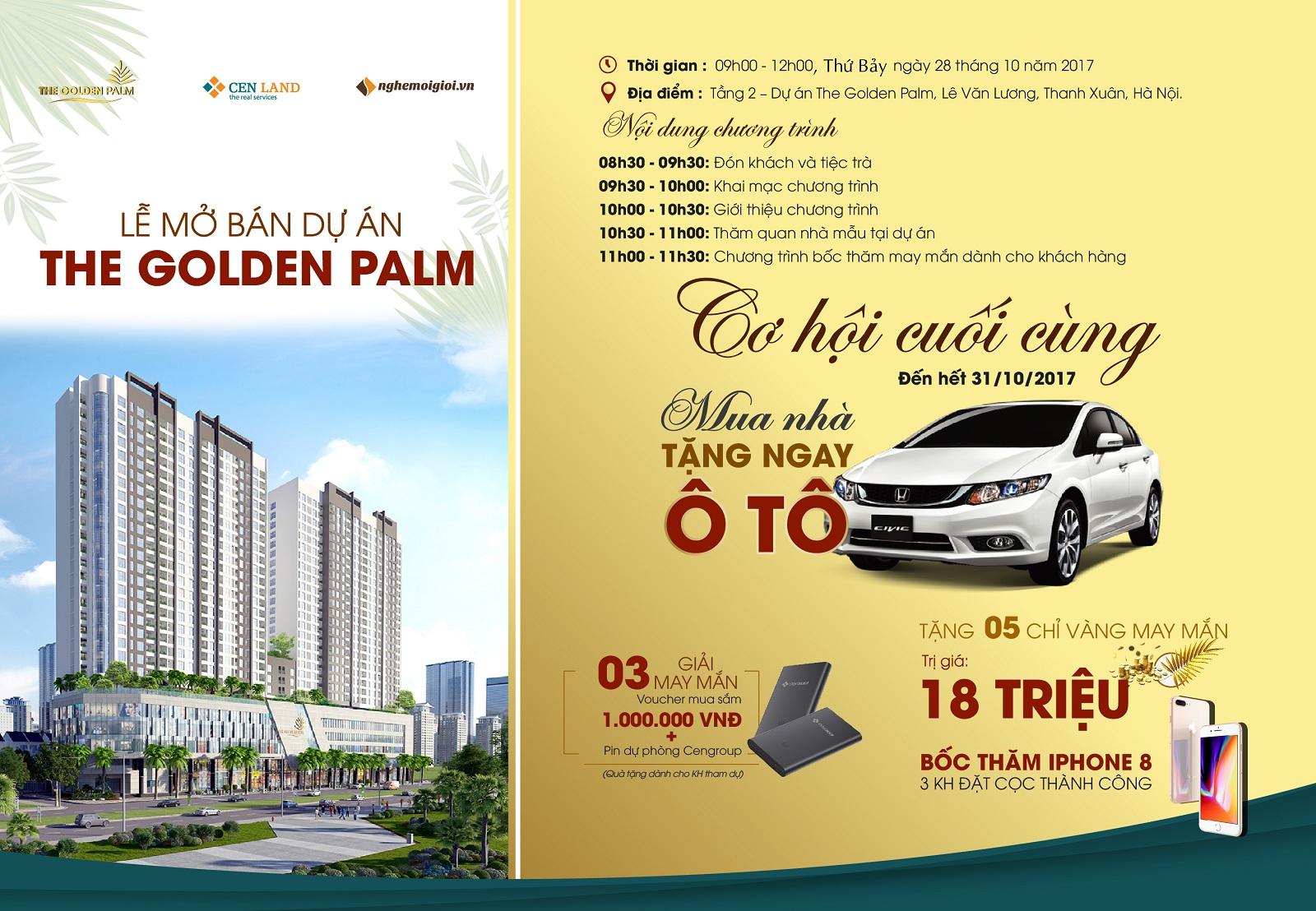 Mở bán dự án The Golden Palm tháng 10/2017