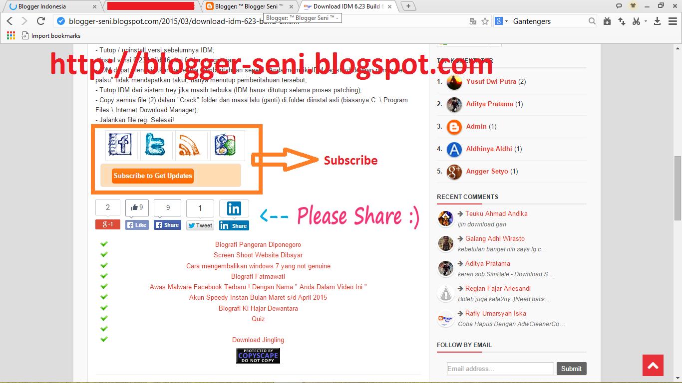 Cara Membuat Kotak Langganan Atau Subscribe Di Blog