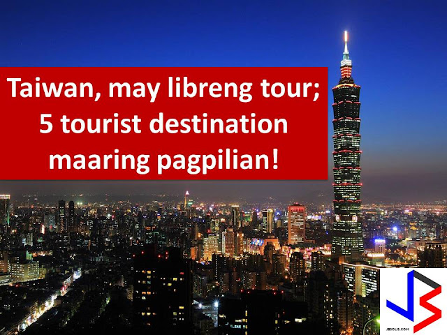 Aside from visa-free entry grant to Filipinos that will start on June 1, 2017, here's another good news to all Filipino passport holder.  It is because Taiwan is offering free half-day tours to travelers who have seven- to 24-hour layover in its country.  Taiwan's Tourism Bureau said it is offering a morning or afternoon tour to those possessing a valid Taiwan visa or those who are from countries that are exempted from obtaining a visa.  The only requirement is their passport which is valid for at least six months and their accomplished Immigration's embarkation and disembarkation card.