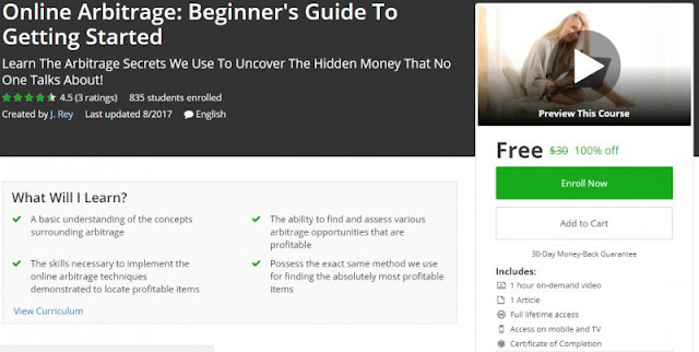 [100% Off] Online Arbitrage: Beginner's Guide To Getting Started| Worth 30$