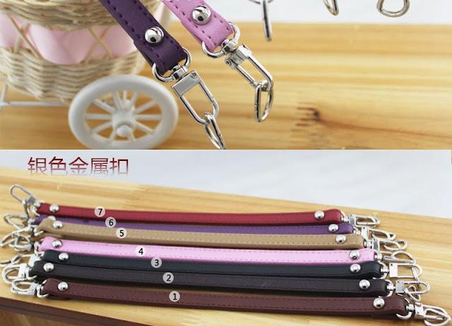 c6f02aea4179 Ручки для сумки Одинарные Разноцветные (синтетическая кожа) с карабинами +  полукольцо, длина 120 см, ширина 1,2 см, цена 105 грн. шт.