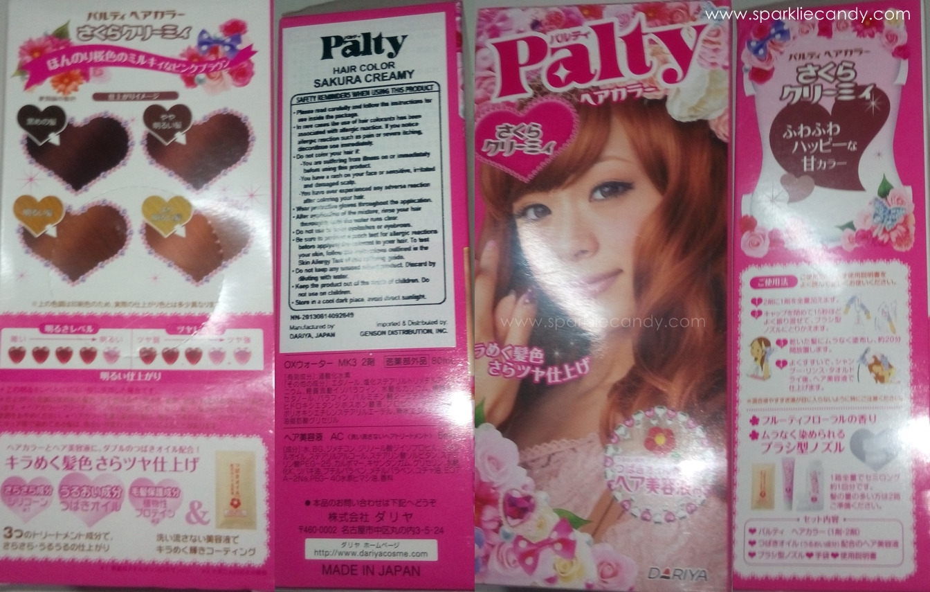 My Name Is Chien Review Palty Hair Color In Sakura Creamy