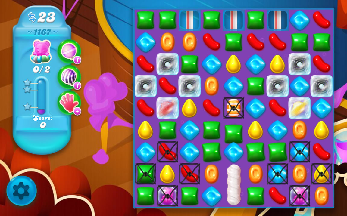 Candy Crush Soda Saga level 1167