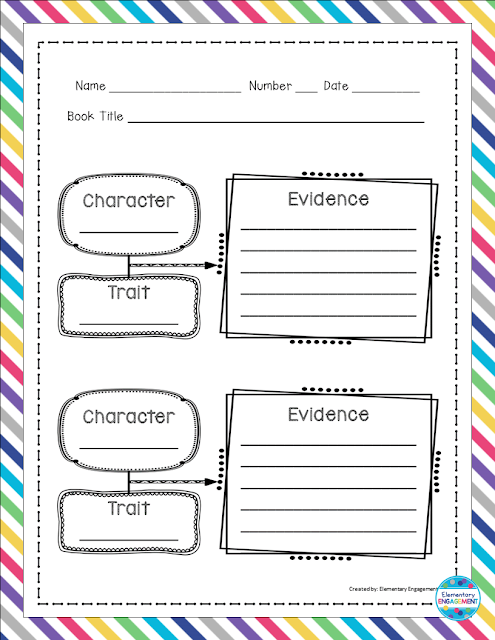 Free graphic organizer for character traits!