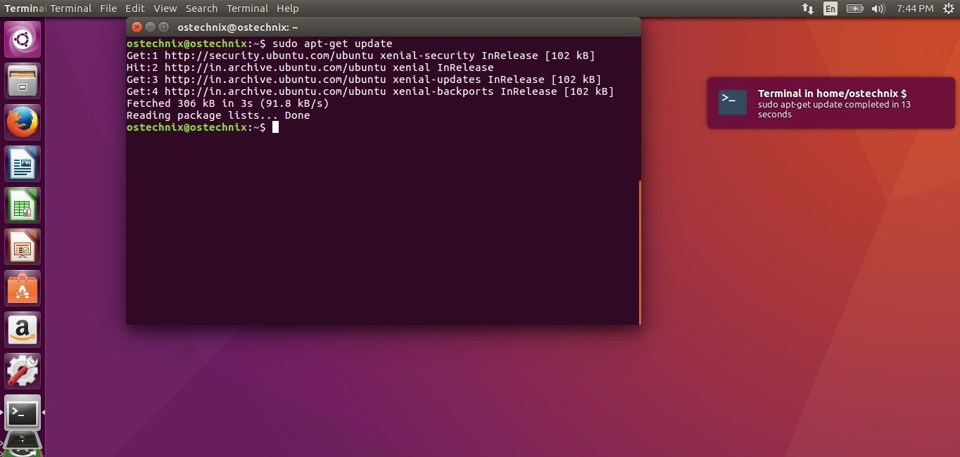 how to open ubuntu desktop from terminal