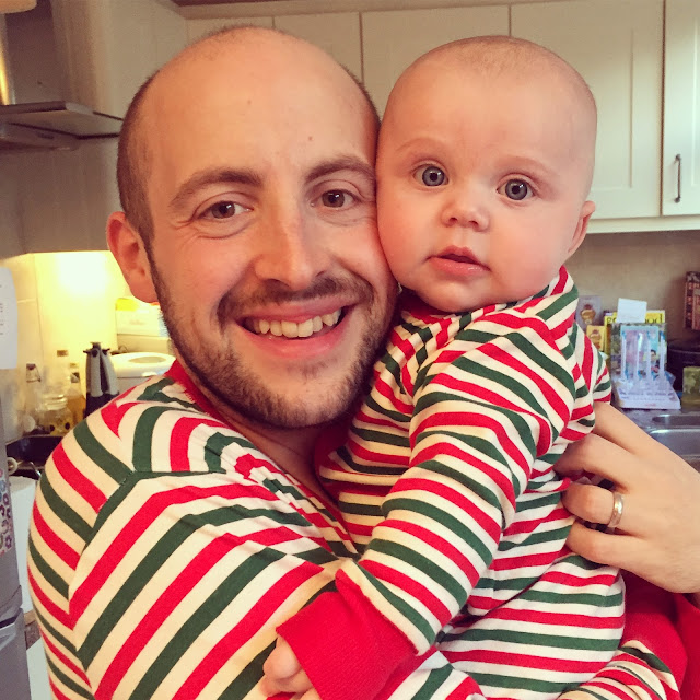 Liam and Connie Bishop - matching stripe PJs