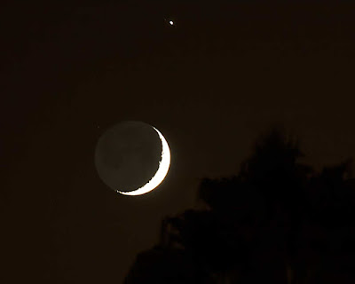 Conjunction of Moon and Jupiter (Source: Palmia Observatory)