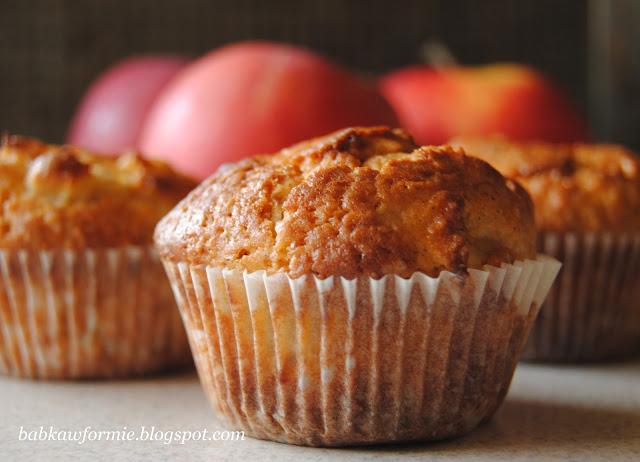 muffiny cynamonowe z jabłkami babkawformie.blogspot.com