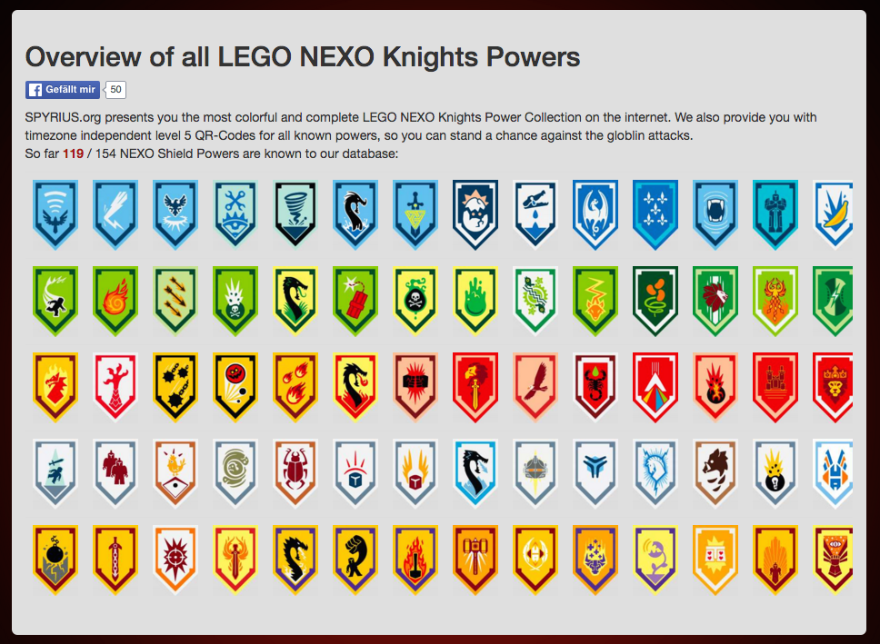 nexo knights shield list   bing images