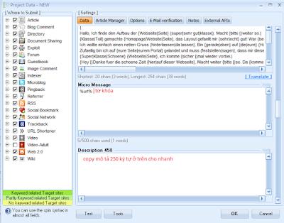 B7 .thêm từ khóa vào phần message, thêm mô tả tiếng việt ko quá 450 kí tự